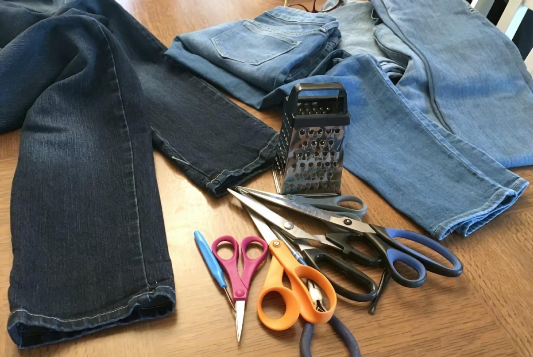 cara menyobek celana jeans